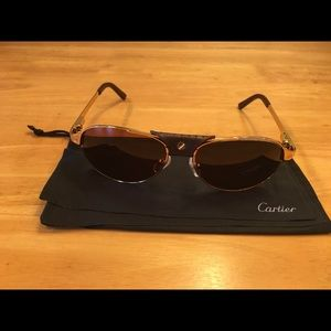 Cartier Accessories - Cartier Santos-Dumont Sunglasses 58-16-130
